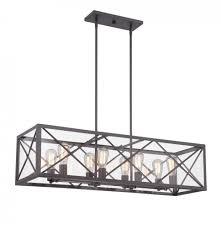 high line 8 light linear chandelier