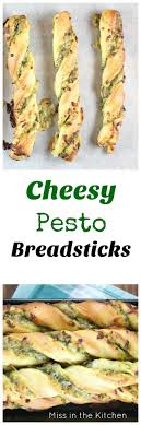 cheesy pesto breadsticks are filled with ooey gooey mozzarella cheese and packed with tons of flavor