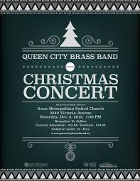 Christmas Concert Poster Christmas Concert Dec 5 2015 Queen City Brass Band