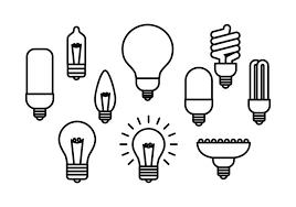 icon lighting. Free Light Bulb Line Icon Vector Lighting