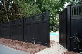 black vinyl privacy fence. Illusions Black Vinyl Pvc Privacy Matte Finish Fencing Panels 3 Fence N