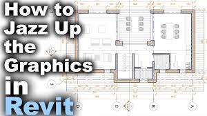 how to jazz up floor plan graphics in revit tutorial