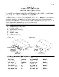 Model If114 Vats Passlock Transponder Manualzz Com