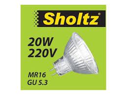<b>лампа галогенная</b> SHOLTZ <b>20Вт</b> GU5.3 200лм 2700K 220В спот ...