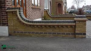 Image result for garden boundary brick walls uk