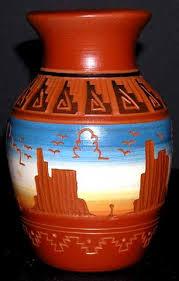 navajo pottery designs. Navajo Etchware Desert Monuments Yard Vase Pottery Designs R