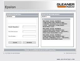 epsilon agco gleaner parts and service information 2017, repair  at Wiring Diagram For M2 Gleaner Combine
