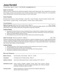 objective for teaching resume teaching resume example student teacher resume template word