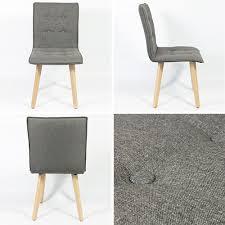 6 Set Stühle Esszimmer Holz Retro Design Grau Kingpower