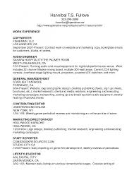 Writing A Resume Example Principal Impression Contract Mechanical