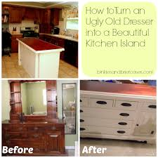 diy kitchen island from dresser. How To Turn A Dresser Into Kitchen Island Diy From
