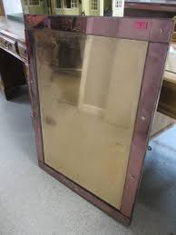 lotto 2 an art deco mirror with a pink glass border a f