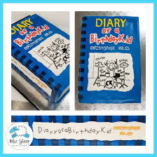 Light Blue Diary Of A Wimpy Kid Book Diary Of A Wimpy Kid Book Cake Blue Sheep Bake Shop