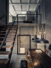 office industrial design. deep concrete shadows private house industrial interior designindustrial office design e