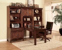 modular home office desk. Divine Furniture For Home Office Decoration Using Solid Red Cherry Wood Shelf Modular Desk Including Black Leather