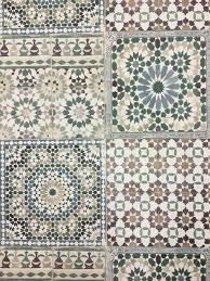 deco4walls moroccan tile green wallpaper