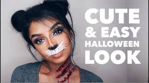 last minute cute bunnycat makeup
