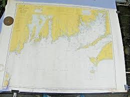 Vintage Ocean Nautical Chart Map Marthas Vineyard