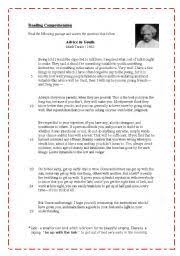 english worksheet advice to youth by mark twain resources for english worksheet advice to youth by mark twain resources for esl mark twain worksheets and literary essay