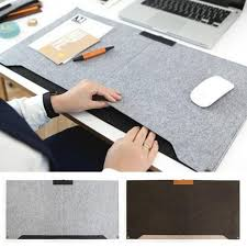 fashion durable computer desk mat modern table felt office desk mat mouse pad pen holder wool felt laptop cushion desk mat pad in mouse pads from computer