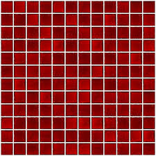 1 inch transpa red glass tile