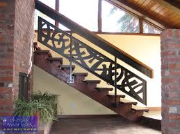sophisticated impressive wooden floor and dazzling contemporary stair railing