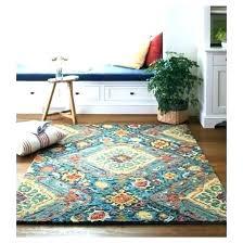 orange and turquoise area rug round rugs amazing nice o