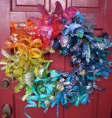 plastic bottle wreath