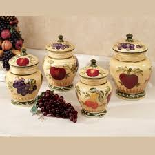 Designer Kitchen Canister Sets Fruit Kitchen Decor Touch Of Class