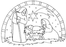 Nativity Scene Coloring Pages Feat Free Nativity Coloring Sheet For