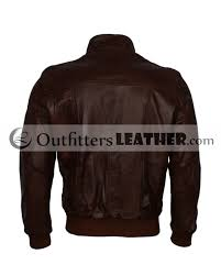 retro casual designer mens vintage brown leather biker jacket outfitters leatheroutfitters leather