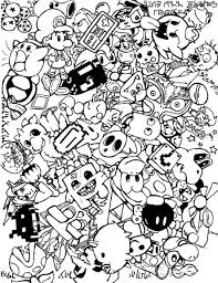 a9a9394d607847c7162ca29b11c8f378 doodle coloring pages colouring adult detailed advanced printable on video game coloring pages for adults