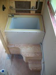 pete s 125 sq ft tiny house on wheels in british columbia shower intended for how
