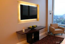Small Picture stunning wall mount tv design in living room with led lighting