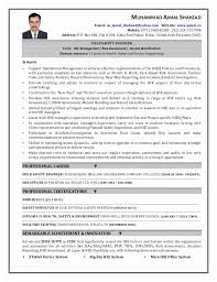 Environmental Health Safety Engineer Sample Resume Amazing Fire Safety Engineer Sample Resume Cv Of Mab Safety Engineer Doc