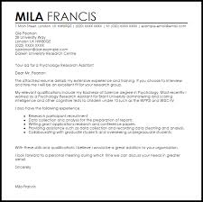 psychology research assistant cover letter sample sample research assistant cover letter
