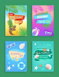 Sample Of Flyer Summer Sale Flyer Promotion Leaflet Sample Vector Premium