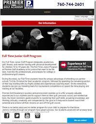 Pga Premier Golf Academy Brochure Request