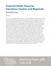 Projected Health Financing Transitions Timeline And