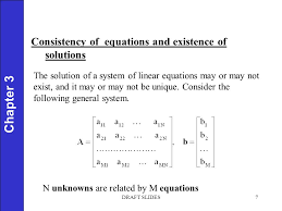 chapter 1 7 chapter 3 consistency of equations and existence of solutions the solution of a