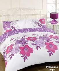 dreamscene pollyanna fl design duvet cover bedding set with pillowcases purple king co uk kitchen home