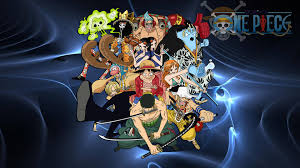 one piece luffy and crew background for puter cartoons images