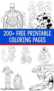 How about to print and color the team of heroes known as guardians of the galaxy? 200 Printable Coloring Pages For Kids Frugal Fun For Boys And Girls