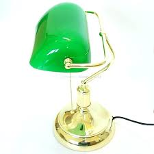 bankers lamp blue shade banker lamp shade vintage bank table lamps retro brass bankers lamp green