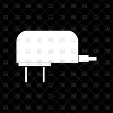 mobile phone charger on black background vector image vector ilration of technology serhii435 to zoom