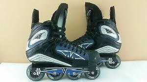 Mission Rl Hi Lo Inline Roller Hockey Skates Size 12d Wheel Size 80 72mm Ebay