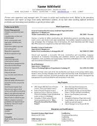 Construction Supervisor Resume Format Resume Cover Letter Rs