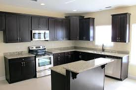 kitchen black wooden wall cabinet combined white granite top kitchen island table bar panama solid