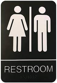 Amazon Unisex Braille Restroom Sign Bathroom Sign with Custom Unisex Bathroom Sign