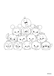 Disney Tsum Tsum Printable Coloring Pages